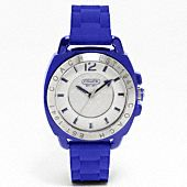 Coach boyfriend water resistant rubber strap watch. Gorg color and perfect for work!