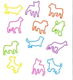 Pk of 12 Rubba Bandz Rubber Bracelets Doggie Shapes * Find out more about the great product at the image link.
