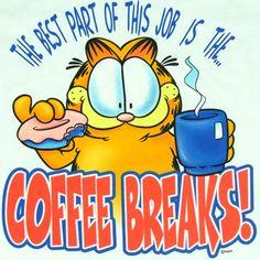 Garfield Pictures, Garfield Quotes, Garfield And Odie, Garfield Comics, Coffee Break, Hot Coffee, Coffee Time, Coffee Quotes, Coffee Humor