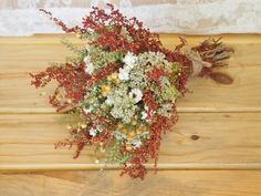 BOHO AUTUMN Bridesmaid Dried Flower Bouquet - Perfect for a Country Rustic Wedding via Etsy