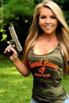 1911... because shooting twice is just silly. Camouflage, Tank Tops, Games, Fun, Fashion, Moda, Halter Tops, Military Camouflage, Fashion Styles
