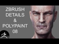Zbrush Tutorial: Head Detail and Polypainting 08