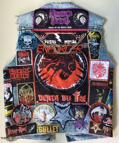 New Blood Vest I'm waiting only one patch (bulldozing bastard) for complete \,,/ from METAL SAVAGE Battle Jacket, Leather Jackets, Bass, Blood, Patches, Guitar, Passion, Gallery, Metal