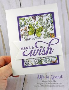 Life is Grand with Botanical Butterfly Designer Series Paper
