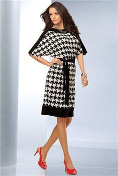 Dolman-Sleeve-Houndstooth-Dress @ addy wright