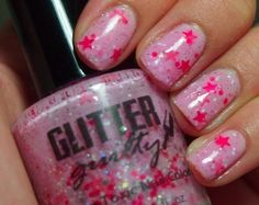 Glitter Guilty Mani in Pink  #speckled #nails #nailart #spring - bellashoot.com