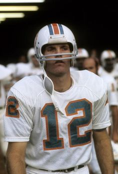 CIRCA 1970's Quarterback Bob Griese of the Miami Dolphins waits during player introduction circa mid 1970's before an NFL football game Griese played...