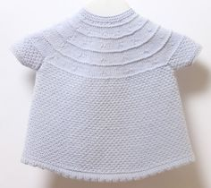 Baby Dress / Knitting Pattern Instructions in English / PDF Instant Download / Sizes 3 / 6 / 9 months