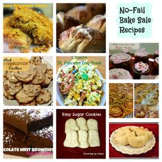 Sell out your Bake Sale with these bake sale recipe ideas! Love the 3 ingredient peanut butter cookies.  So yummy!
