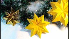 Origami Star. Christmas star.