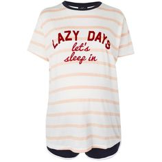 Topshop Maternity Lazy Days Stripe Pyjama Set (£22) ❤ liked on Polyvore featuring maternity and multi