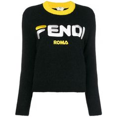 9ebaa34b512 Shop Fendi Fendi Mania cropped logo sweater