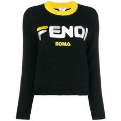 9ebaa34b512 Shop Fendi Fendi Mania cropped logo sweater