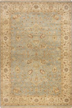 Momeni Palace PC-02 Light Blue Area Rug - Traditional designs blend with modern colors to give the Momeni Palace Collection its unique appeal.