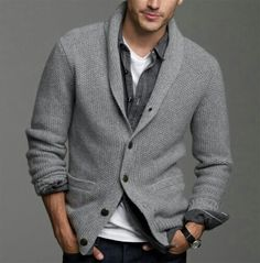 button up sweater men - Google Search