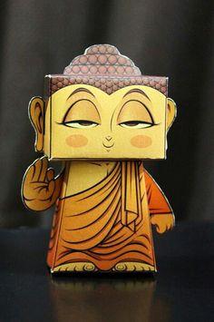 Buddhist paper toy