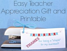 Teacher Appreciation Gift: Stapler Printable