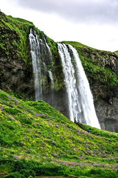 waterfall wallpaper chute waterfall photo iceland waterfalls waterfall wallpaper nature water