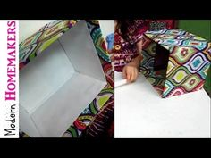 How To Cover A Box With Fabric - YouTube