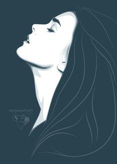 by sergemalivert on DeviantArt Abstract Portrait, Portrait Art, Portrait Illustration, Digital Illustration, Pop Art Vector, Art Sketches, Art Drawings, Art Puns, Quirky Art