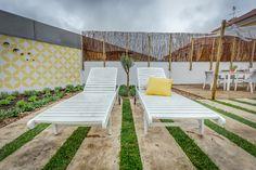 Tânia Martins | Exteriores | Outdoor | Garden | Jardim | Sun Lounger | Cushions | Garden | Deck | Yellow | Amarelo