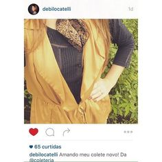 Regram da linda e querida @debilocatelli ! A Debi nos presenteou com esse lindo click do seu #águamole, ela que também tem a marca dos aventais mais fofos do mundo - @bonjouraventais  #coleteria   sempre♡ #colete #vest www.coleteria.com.br♡