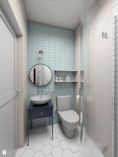 Zmysłowa elegancja apartament Mokotów - Mała łazienka, styl eklektyczny - zdjęcie od Dizajnia art - studio projektowe