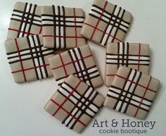 Art burberry pattern. This would look great in fused glass