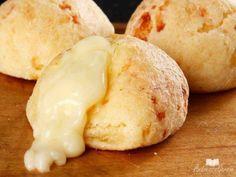 Veja a receita: Pão de queijo recheado ( de liquidificador)