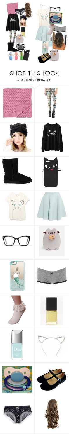 """""""Ddlg -kitty-"""" by princess-llyssa ❤ liked on Polyvore featuring UGG Australia, Lulu Guinness, Sonia by Sonia Rykiel, Spitfire, Pusheen, Casetify, Charlotte Russe, Lane Bryant, Christian Dior and Candie's"""