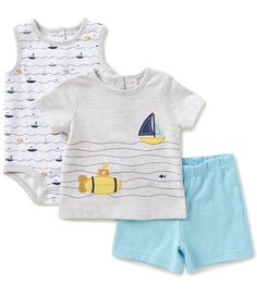 263f4a264 Shop for Starting Out Baby Boys Newborn-9 Months Sailboat Shirt, Printed  Bodysuit,