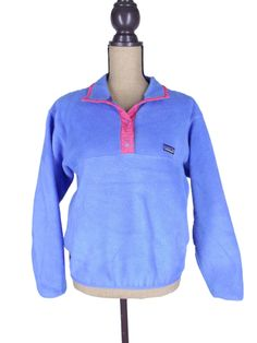 Vintage Patagonia Snap T Womens Pullover Fleece Jacket Pink Size M