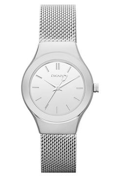 DKNY 'Greenpoint' Round Mesh Bracelet Watch, 28mm | Nordstrom