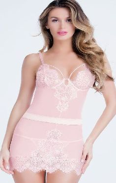 Bedtime Flirt Flirty Pink Lace Chemise 3113p This gorgeous blush pink lace chemise is made from seductive sheer mesh with eyelash lace trim and cups and a satin waistband. This glamorous nightwear choice is perfect for a little bedtime flirting! http://www.comparestoreprices.co.uk/chemises/bedtime-flirt-flirty-pink-lace-chemise-3113p.asp