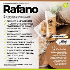 Lo sapevi che... il #Rafano aiuta ad accellerare il #metabolismo è ricchissimo di #vitaminaC ed è un alimento #detox per il fegato. #salute #alimentazione #viversano