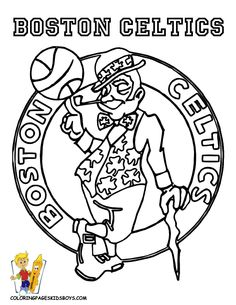 NBA Logos  Printable Coloring Pics  Pinterest  Logos Coloring
