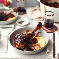Braised Lamb Shanks and Melted Onions