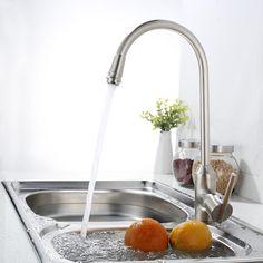 Bakala cozinha mão de níquel escovado torneira da cozinha de bronze torneira instantânea torneira de água quente SW-0957N alishoppbrasil
