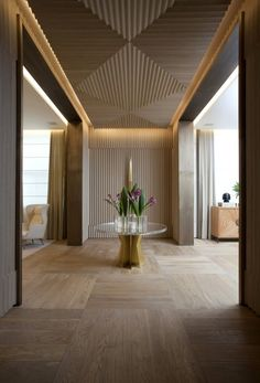 floor pattern | ceiling detail | wood | Casa Cor SP 16 - Roberto Migotto