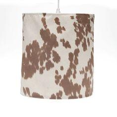 Glenna Jean Carson Red Lamp Base Cowboy Print Shade