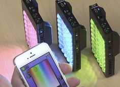 KICK: the lighting studio that fits in your pocket Rift Labs The Kick Full Color Light For Photo And Video
