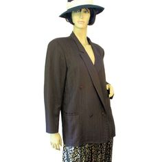 90s Jil Sander Jacket Brown Wool Double by MorningGlorious on Etsy