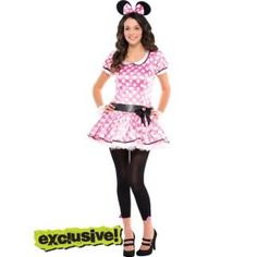 Exclusive Looks - Teen Girls Costumes - Teen Costumes - Halloween Costumes - Categories - Party City Teen Girl Costumes, Costumes For Teens, Dress Up Costumes, Adult Costumes, Halloween Costumes, Looks Teen, Minnie Mouse Costume, Party Stores, Playing Dress Up