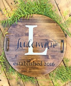 Our Personalized Serving Tray makes great wedding gift, housewarming gift, anniversary gift or Christmas Gift! Our serving trays are sanded, stained and painted by hand. Made with solid pine wood we seal all serving trays with two-three coats of polyurethane for a polished look. We