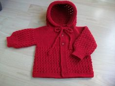 Ravelry: Tunisian crochet Hooded Baby Sweater pattern by Viola Jack
