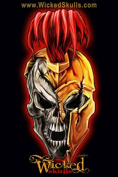 Evil Spartan Skull Painting by Michael Spano - Evil Spartan Skull Fine Art Prints and Posters for Sale