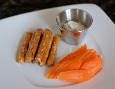 pretzel and carrot snack