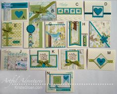 """(pin 2 of 2)... SKYLARK 12x12 one sheet wonder card set by Kristie Sloan.... post includes matting instructions... (see """"pin 1 of 2"""" for pp cutting guide)"""