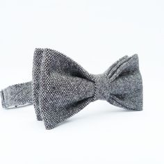 Mens Bow Tie - Black Grey Tweed £16.00