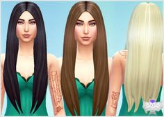 The Sims 4 : David Sims's Classic Long Hairstyle new mesh • Sims 4 Downloads